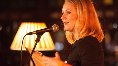True Stories Live compere Molly Naylor. Photo: Robin Mair