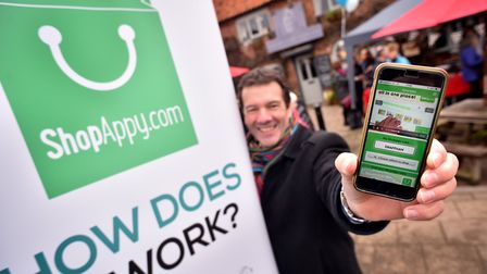 Launch of ShopAppy. Leader of Breckland Council, William Nunn.Picture: ANTONY KELLY