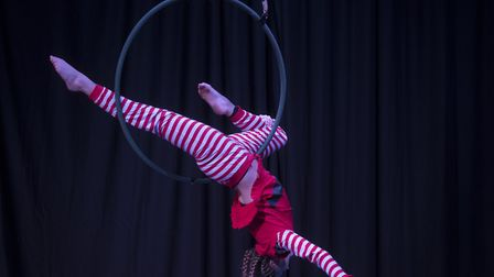 Central Dance School performing circus skills ahead of Lost in Translation Circus's show. Photo: Ste