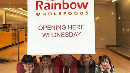 The Rainbow Wholefoods team at their new site. Picture: Adele Ridge-Ward