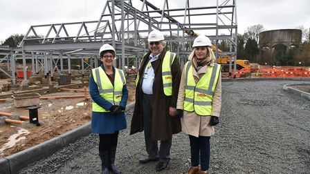 Norfolk County Council member Cliff Jordan on a previous visit to the building site of the new EACH