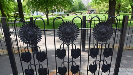 The decorative gates at the entrance to Chapelfield Gardens. Picture: DENISE BRADLEY