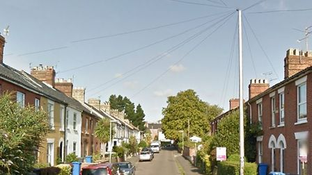 The garages are to be knocked down on Hanover Road in Norwich. Googlemaps