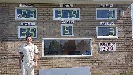 Great Meltons George Bunn scored the first double century in the club's 44-year history at the weeke