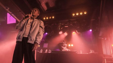 Rejjie Snow performing at The Waterfront in Norwich, 24th April 2018. Photo: Paul Jones
