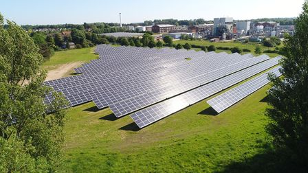 The solar farm which RenEnergy installed for Briar Chemicals. Picture: Tom Wingfield/RenEnergy