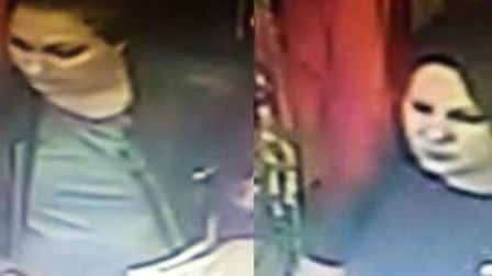 Police have issued CCTV images of two women after thefts from Monsoon in Norwich. Picture Norfolk Co