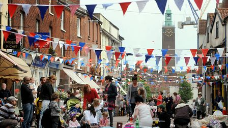 A street party held in Norwich to celebrate a previous royal wedding. Picture: Archant library. Uppe