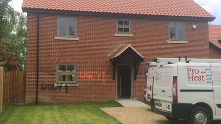 Two new build houses have been vandalised in New Buckenham. Picture: Archant