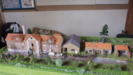 The newly completed model of the mill. Picture: The Narborough Bone Mill