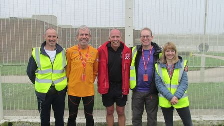 HMP Wayland has started its own parkrun for inmates. Pictured are Wayland prison exercise instructor