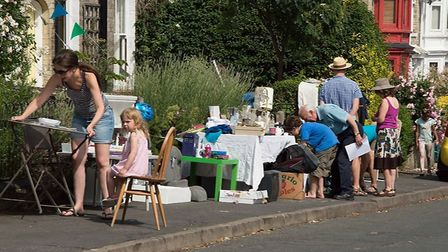 Kim Weston is expanding the yard sale from her own Havelock Road to the entire NR2 postcode Picture:
