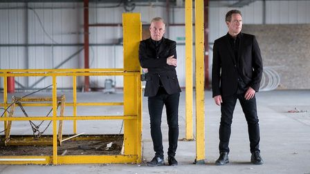 Paul Humphreys and Andy McCluskey of OMD. Photo: Mark McNulty