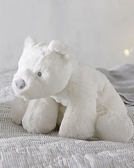 The Little White Company polar bear toy which has been lost by Sue Dorkins' daughter in Norwich. Pic