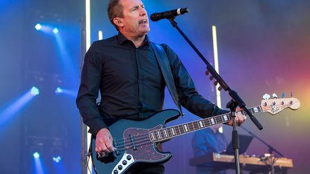OMD take to the stage as the sun sets over Norwich at Let's Rock Norwich 2018 on Earlham Park. Pictu