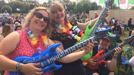 Crowds at Let's Rock in Earlham Park. Picture: Ian Clake