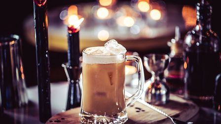 Be at One's new Butter Beer cocktail, inspired by Harry Potter. Photo: Be At One