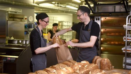 Mike Sweetman and Natalie Stringer who are joint owners of Timberhill Bakery in Norwich. Picture: AN
