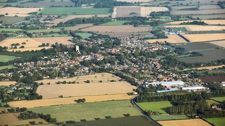 An aerial view of the fields around Old Buckenham Airfield, from where ten deserving people will tak