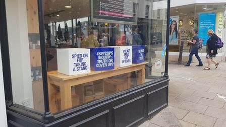 The Paid to Lie campaign advertising in Lush Norwich. Picture: Marc Betts