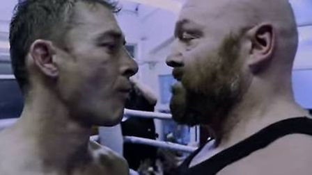 Earl Ling (right) plays an underground boxer in Stephen Smith's movie about English football hooliga