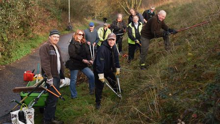 Volunteers from the Lakenham and Town Close Green Spaces Group taking part in a previous clean-up on