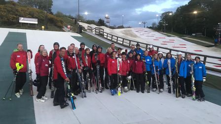 Some of the volunteer instructors at the Norfolk Snowsports Club in Trowse. Picture: KATE ANDERSON