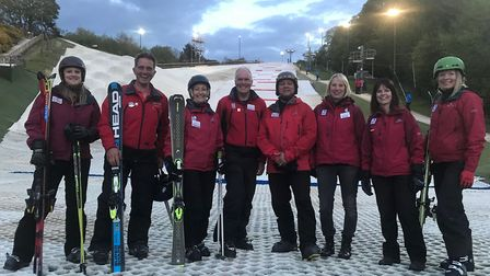 Level four and trainee level three volunteer instructors at Norfolk Snowsports Club in Trowse. Pictu