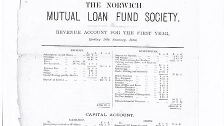 Extract from first Norwich Mutual Loan Fund Society AGM report, 1885-6 Picture: NORFOLK RECORD OFFIC