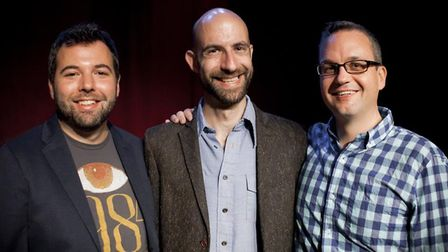 Joseph Fink, Cecil Baldwin and Jeffrey Cranor of Welcome to Night Vale