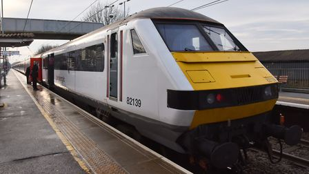 A person has been hit by a train between Norwich and Ipswich. Pic: Sonya Duncan.