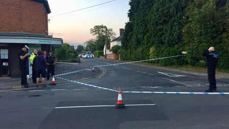 Police are at the scene of an RTC in Hethersett, where the junction of Henstead Road and Great Melto
