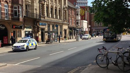 Police were called to Barclays bank on Red Lion Street in Norwich. Picture Archant.