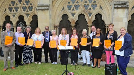 The NCH&C Choir. Picture: Norfolk Community Health and Care NHS Trust
