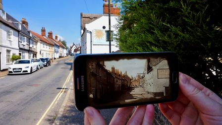 How the augmented reality looks while on the Wymondham heritage trail. Picture: South Norfolk Counci