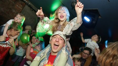 Families enjoying the Big Fish LIttle Fish family rave in Manchester. The event is coming to Norwich