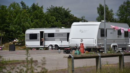 Travellers at Harford Bridge Park and Ride.Picture: ANTONY KELLY