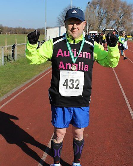 Tim Suthers, who is taking on the challnege of completing 12 half marathons in as many months. Pictu