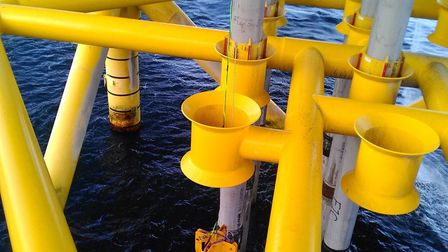 An Aquaterra Energy centraliser. The Norwich-based company is supplying centralisers and associated