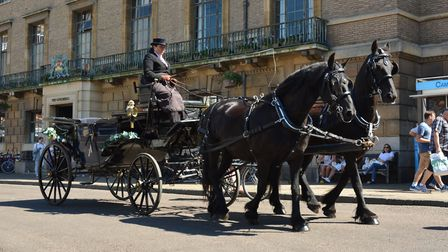 Newmarket races horse and carriage will be in Norwich tomorrow. PHOTO: Newmarket Racecourse