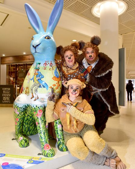 The Three Bears take a break from performing in Shrek The Musical at Norwich Theatre Royal to go sho