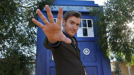 Rob Lloyd channeling the Tenth Doctor. PHOTO: Bob Gilbey