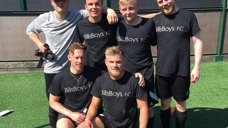 The Bill's Boys five aside team. Picture: Holiday Inn Norwich – North