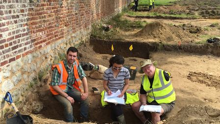 Veterans taking part in the dig last year. Picture: Waterloo Uncovered