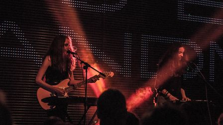 Local band Let's Eat Grandma headlining Epic Studios in Norwich on Thursday 5th July 2018. Photo: Pa