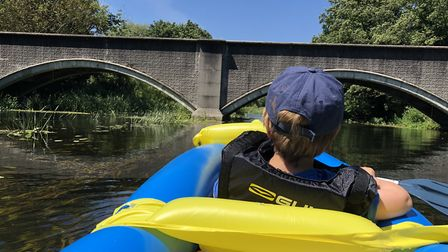 Arthur Abbs during River Wensum kayak trip on which they saw a terrapin. Picture: Tris Abbs