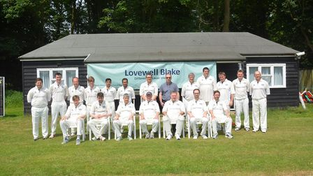 Ketteringham Hall Cricket Club, which is now sponsored accountancy firm Lovewell Blake. Picture: SEN
