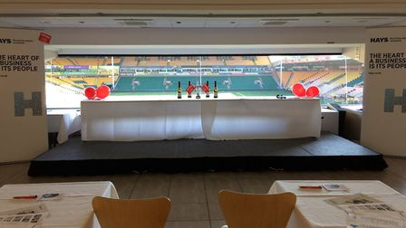The set up at Norwich City Football Club. Picture: HAYS Recruiting experts