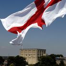 The England Flag flies over Norwich City Centre. PHOTO:SONYA BROWN