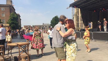 People dancing at the The Forum Stage at The Lord Mayor's Celebrations. PHOTO: Sophie Smith